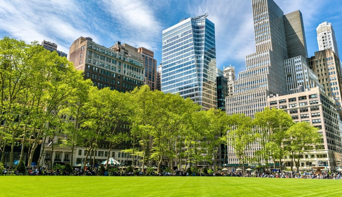 Bryant Park, NY, 5th Ave, Class B Office Building
