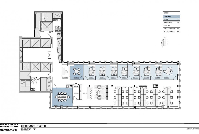 5 Bryant. 33rd Floor plan